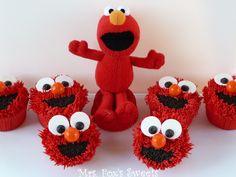 Mrs. Fox's Sweets: Elmo Cupcakes