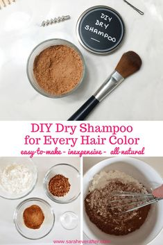Easy DIY Dry Shampoo for Every Hair Color Dry shampoo is a must-have for every busy woman! And this DIY Dry Shampoo is the best I've used! Find out the benefits of making your own dry shampoo, the best application method, and get the perfect…More No Yellow Shampoo, Color Shampoo, Purple Shampoo, Diy Beauty Hacks, Beauty Hacks For Teens, Beauty Tips, Hacks Diy, Beauty Bar, Beauty Secrets