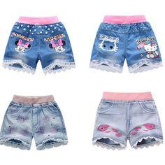 fd339c3f42 Aliexpress.com  Comprar 2015 caliente la venta del verano kids shorts jeans ropa  infantil niñas pantalones cortos para las niñas 4 10 años vaqueros de los  ...
