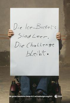 Aufrüttelnde Plakatkampagne der Deutschen Gesellschaft für #Muskelkranke e. V. zu Amyotrophe #Lateralsklerose (#ALS): http://www.dgm.org/als/plakate.html
