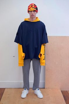 this shirt is a wearable level of avant garde. It has a classic t-shirt shape but the sleeves are unique