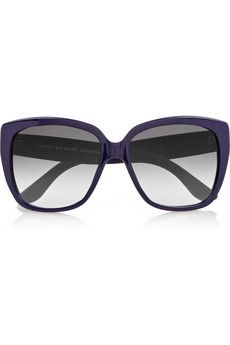 Marc by Marc Jacobs Square-frame printed acetate sunglasses   THE OUTNET  Designer Clothes Sale 859bf94f4b90