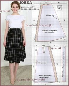New sewing diy dress circle skirts ideas Skirt Patterns Sewing, Clothing Patterns, Skirt Sewing, A Line Skirt Pattern, Pattern Sewing, Sewing Clothes Women, Diy Clothes, Style Clothes, Diy Kleidung
