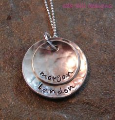 hand stamped necklace OakHillDesigns