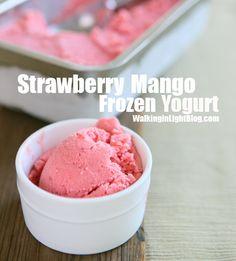 Strawberry Mango Frozen Yogurt