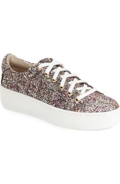 Steve Madden 'Bertie' Glitter Platform Sneaker (Women) available at  #Nordstrom