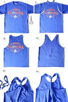 how to change old tee shirts into tank tops