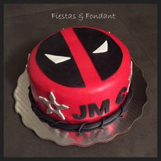 Deadpool cake by Fiestas & Fondant