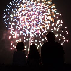 picture of people watching a fireworks display by Sarah Keene