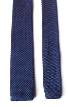 NEXT Skinny Knitted Neck Tie Dark Blue Mod Northern Soul Scooter FREE P&P #NEXT #Tie