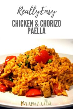Really easy paella - chicken and chorizo. Classic comfort food for cold nights!