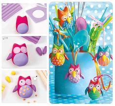 Tuto Hiboux en Fimo - Staedtler Réalisez des hiboux rigolos pour mettre de la couleur dans votre maison. Retrouvez toutes les étapes pour créer votre hibou ici >>> http://www.perlesandco.com/Hiboux_en_Fimo-s-2228-12.html