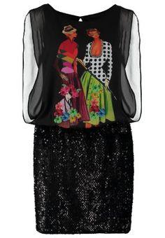 bringe etwas Glamour in deine Garderobe! Desigual JOSEPHINE - Blusenkleid - schwarz für SFr. 180.00 (03.11.14) versandkostenfrei bei Zalando.ch bestellen.