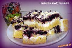 Borůvkový linecký s tvarohem Czech Recipes, Ethnic Recipes, Sweet Cakes, Nutella, Sweet Recipes, Tiramisu, Cheesecake, Food And Drink, Cooking Recipes