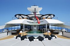 'Palladium' a beautiful megayacht built by Blohm  Vohss in 2010.  Length 315 feet