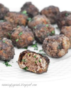 """making these Greek Meatballs """"Keftedakia"""" tonight for my meatarian guests"""