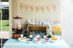 Sangria bar for bridal shower