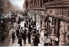 Victorian Times up Oxford Street Central London England London Pictures, London Photos, Old Pictures, Old Photos, Antique Photos, Vintage Pictures, Victorian London, Vintage London, Victorian Era