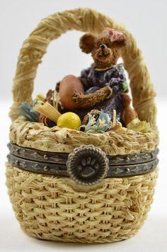 boyds bears   Boyds Bears Laurel Bearibean With Picasso Mouski - Resin Treasure Box ...