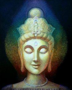 Affiche de méditation Bouddha Art déesse par HalstenbergStudio: