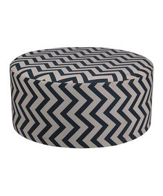 Love this Black & White Zigzag 36'' Round Ottoman by Privilege on #zulily! #zulilyfinds