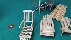 This video will show you how to make a miniature scale dollhouse Adirondack chair. If this tutorial was helpful to you and you really like creating doll. Fairy Furniture, Miniature Furniture, Doll Furniture, Dollhouse Furniture, Miniature Plants, Miniature Fairy Gardens, Miniature Dolls, Miniature Houses, Woodworking Assembly Table
