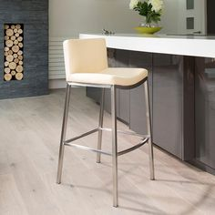 Set of 2 luxury ivory kitchen breakfast bar stool seat for Luxury breakfast bar stools