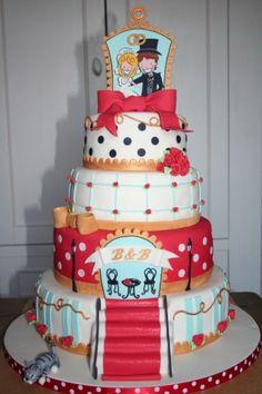 Gaaf! Blond Amsterdam weddingcake