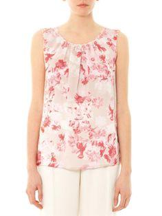 Love this: Floral Print Silk Sleeveless Top @Lyst