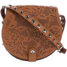 Pre-owned Rebecca Minkoff Skylar Mini Crossbody Bag ($95) ❤ liked on Polyvore featuring bags, handbags, shoulder bags, brown, mini handbags, crossbody purse, mini crossbody purse, brown shoulder bag and brown crossbody