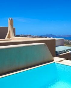 Voreina Gallery Suites  ( Santorini, Greece )  All Superior Suites have private pools and sweeping views of the Aegean Sea. #Jetsetter #JSVolcano