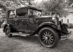 1929 Durant Model 60 (BW Sepia) by Mark Bergeron