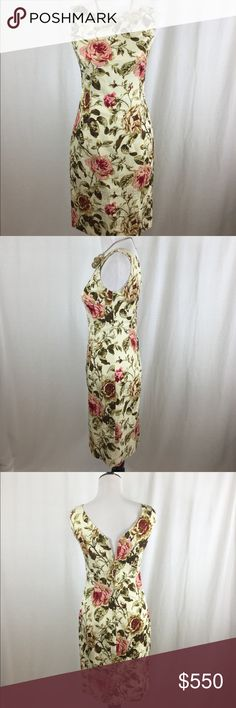 Authentic Dolce &Gabbana Sheath Dress Beautiful pre-owned authentic Dolce& Gabbana sheath dress. Sleeveless scoop neck and V back design. Concealed back zipper. Lined.  Size: IT 42 or US 6(D&G Size chart). Length 38.  No stains or rips. Like new. Made in Italy. Retail $2500 Dolce & Gabbana Dresses