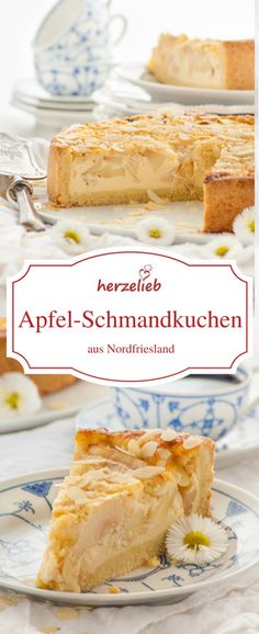 North Frisian apple sour cream cake recipe- Nordfriesischer Apfel-Schmand-Kuchen Rezept Apple Pie Recipe – Apple sour cream cake from North Frisia. Whether on Sylt, Föhr, Amrum or on the mainland – I& eaten it almost everywhere on the North Sea coast. Apple Pie Recipes, Baking Recipes, Cake Recipes, Dessert Recipes, Cream Recipes, Food Cakes, Apple Sour Cream Cake, Apple Cake, Yummy Cakes