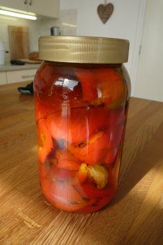 Geroosterde paprika's met knoflook op olijfolie 21-3-15