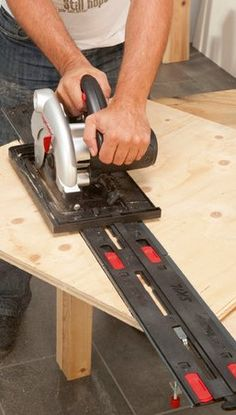 Sawing a straight line has never been so easy   Skil Masters guide-rail