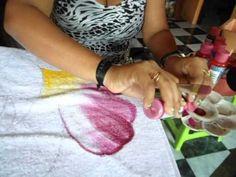 Como pintar rosas. Pintura em Tecido. part 2. - YouTube