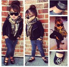 little girl fashion fashion Kids fashion / swag / swagger / little fashionista / cute / love it! Little Girl Outfits, Little Girl Fashion, Cute Little Girls, My Little Girl, My Baby Girl, Cute Kids, Girls Fun, Girly Girl, Fashion Kids