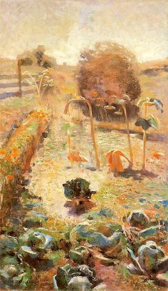 Jan Stanislawski, In the garden on ArtStack #jan-stanislawski #art