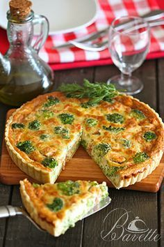 Quiche de salmón y brócoli