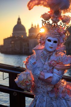 .......Wear my beautiful old venetian mask to the Carnival Sunrise, Venice, Italy