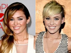 MILEY CYRUS  Whether you loved it, hated it or thought it looked vaguely familiar, Miley's platinum cut was arguably the most buzzed about hair tranformation of the year.