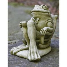 Have to have it. Campania International Coffee Break Frog Cast Stone Garden Statue - $44.99 @hayneedle