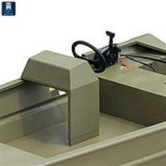 T-H Marine Mount Steering Console - This aluminum boat steering console features welded construction, plywood reinforced face for steering wheel mounting, adjustable height, space for mounting switches and instruments, and a flat top for depth fi Plywood Boat Plans, Wooden Boat Plans, Boat Dock, Pontoon Boat, Pt Boat, Boat Console, Center Console, John Boats, Free Boat Plans