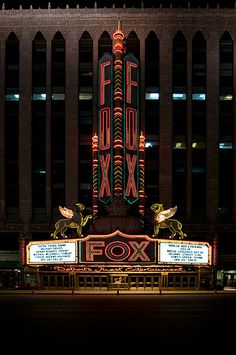 Fox Theatre ~ Detroit, Michigan (I saw The Romantics here when I was a teenager.)