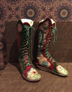 Boots from counter culture exhibit at the MAD Museum NYC March 2017.