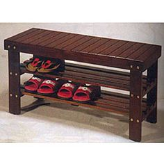 Wooden Shoe Bench. Cute and convenient