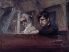 Ron Hicks' works have been characterized as a blend of representational art and impressionism. Some critics have compared them to paint. Art And Illustration, Aqua Regia, Inspiration Artistique, Oil Painters, Collaborative Art, Couple Art, Michelangelo, American Artists, Figurative Art