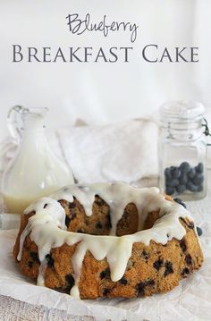 Blueberry Breakfast Cake from I am Baker, looks great!