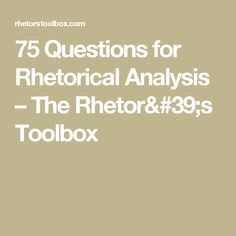 ap english essay prompt rhetorical analysis of their eyes were   their eyes were watching god by amylack03 see more 75 questions for rhetorical analysis the rhetor s toolbox